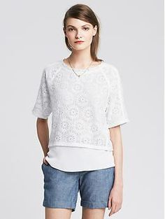 Lace Layered Pullover