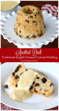 authentic traditional english british spotted dick recipe steamed currant pudding