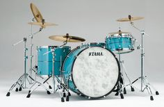 #Tama Star #Drums In Vintage Sea Blue finish!