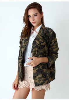 Camouflage Military Jacket by Chic+  #Chicwish