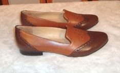 New Naturalizer Sz 9.5M US 39.5 EU Two Tone Cognac Brown Leather Wingtip Loafers #Naturalizer #Loafers #CareerorCasual