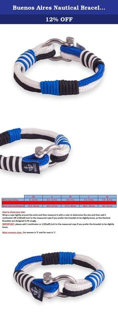 Buenos Aires Nautical Bracelets By U.S. Nautics- Beautiful Bracelets Made of Yachting Rope- Wide Variety of Different Designs & Colors-With Stainless Steel Buckle- Great Gift Idea For Men & Women (Large). Wear Your Nautical Bracelet & Welcome On Board - Let's Set Off For Summer! Do you search for a beautiful accessory that matches with the year's most beloved season, summer? Are you passionate with sea, water activities, and all marine/sailing stuff? Of course, who isn't! Meet The Amazing...