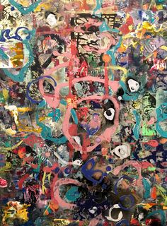 Untitled Abstract October 2016 Acrylic on Wood by Lainard Bush Gerhard Richter, Jackson Pollock, My Images, Abstract Art, Collage, Artist, Prints, Fun, October