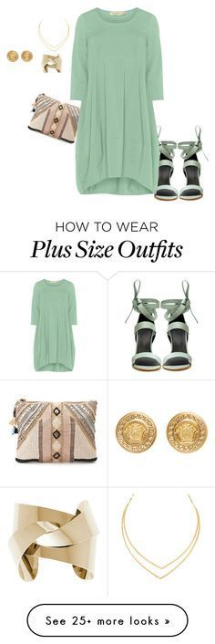"""plus size pretty, simple, and chic"" by kristie-payne on Polyvore featuring TIBI, BLANK, Lana, Isolde Roth and Versace"