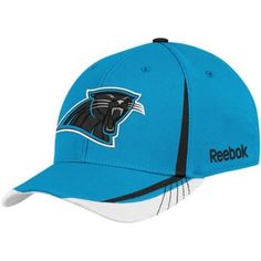 NFL Carolina Panthers Sideline Flex-Fit Draft Hat, Bright Blue by Reebok. $10.29. Put yourself on the roster in spirit with the Reebok® 2011 Player Draft hat. A raised team logo is embroidered on the front, while an NFL® Equipment shield adorns the back. Contrasting panels on the front and top visor add an additional pop of team color.