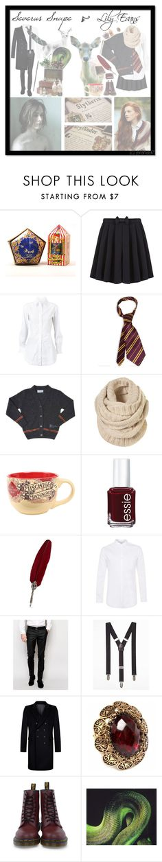 """[Marauders Era] Severus & Lily"" by jerana97 ❤ liked on Polyvore featuring George, Alaïa, Topshop, Essie, Topman, Noose & Monkey, Express, Fantasy Jewelry Box, Dr. Martens and Lanvin"