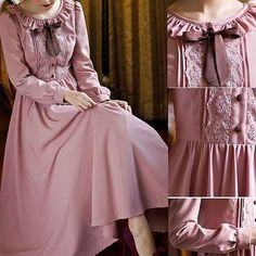 Gonna make this one Abaya Fashion, Muslim Fashion, Modest Fashion, Fashion Dresses, Vestidos Vintage, Vintage Dresses, Vintage Outfits, Vintage Fashion, Modest Dresses