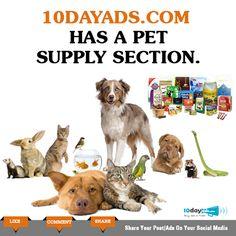 10dayads.com has a pet supply section. #SellPets #PostFreeClassifiedAdsInUSA