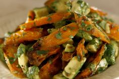 """Huckleberry's roasted carrots with avocado- LA TimesTop 10 2014 Recipe By Noelle Carter 