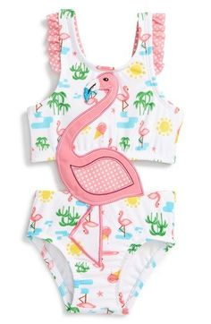 Sol Swim 'Summer Days' One-Piece Swimsuit (Baby Girls) available at #Nordstrom