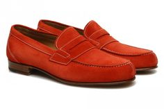 Mocassins Ramon par George's en velours rouge