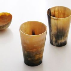 Hand carved horn cups, such a cool site...