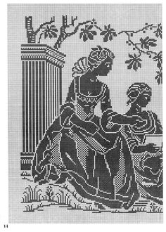 Read at : tmdel.blogspot.ca Crochet Curtains, Crochet Doilies, Crochet Flowers, Filet Crochet Charts, Crochet Angels, Crochet Table Runner, Monochrom, Crochet Home, Counted Cross Stitch Patterns