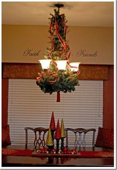 One thing i dont like is decorating my dining room table red gold ribbon and curled it down the sides of the garland kinda like i would do on a christmas tree once that was in place i filled in the gaps with aloadofball Image collections