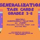 Use these 24 task cards to help your students better understand the complicated skill of making generalizations. These original task cards include ...