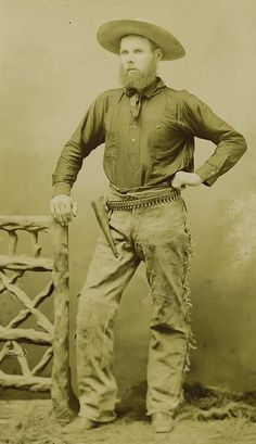 Cowboy with Holster ca 1890s