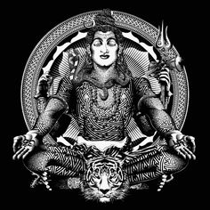 Shiva in Tantrik patterns. He is the Lord of Tantra after all Mahakal Shiva, Shiva Art, Hindu Art, Japan Tatoo, Shiva Tattoo Design, Lord Shiva Hd Images, Lord Shiva Hd Wallpaper, Lord Mahadev, Lord Shiva Painting