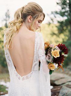 Colorado Mountain Wedding Shoot with Boho Chic Style