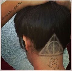 """Deathly Hallows undercut that will make the fan go """"I want want want!!!"""" Haha"""