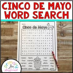 Cinco de Mayo Word Search Freebie! by Primary Playground | TpT
