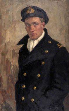 Portrait of a Naval Officer by Charles Julian Tharp Roebuck Collection - Date painted: c.1939
