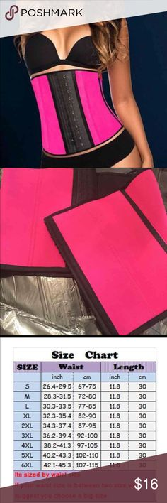 7 bone waist trainer/pink or black WILL SHIP IN MORNING!!!Newest (2017) .High Quality 7/bone Waist Trainer Cincher corset Helps with Weight loss * Reduces Waist Size * Helps with posture You can use these underneath your clothing discreetly and they will help your figure shape Wear the Trainer for a few hours a day until your body gets used to them You can wear it for longer periods when your body feels comfortable  comment your size and buy this post....I have small, medium, large, Extra…