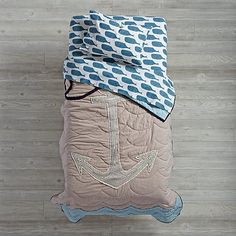 High Seas Toddler Bedding (Whale) | The Land of Nod