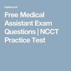 free ncct medical assistant exam questions nithil pinterest medical assistant medical and phlebotomy