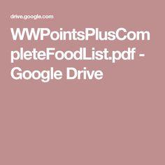 WWPointsPlusCompleteFoodList.pdf - Google Drive