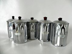 Hey, I found this really awesome Etsy listing at https://www.etsy.com/listing/202672093/french-vintage-chrome-cannister-set