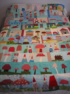 I haven't wanted to make a quilt in forever, but this one might inspire me!  by calamity kim, via Flickr