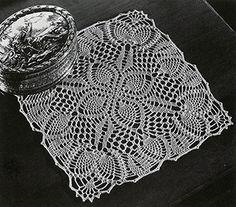 Pineapple Posy Doily crochet pattern originally published in Pineapple Fan Fair, Spool Cotton Co #266.