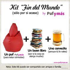 """El 21/12/2012 es el """"Fin del Mundo"""" ¿estas preparado? #findelmundo #pym #humor #puf #kit"""