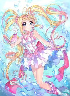 Anime Mermaid, Mermaid Art, Manga Art, Anime Art, Mermaid Melody, Magical Girl, Art Sketches, Sailor Moon, Art Inspo