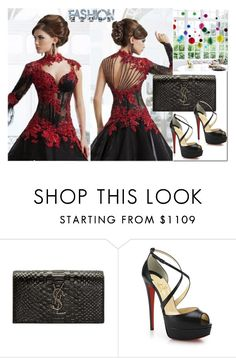 """Bez naslova #93"" by rilner ❤ liked on Polyvore featuring Yves Saint Laurent and Christian Louboutin"