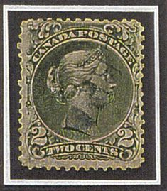2¢ Large Queen on Laid Paper There are only two known copies of this stamp in existence. If it were to come up for auction, it might be the most expensive Canadian stamp. Listed in the UCS catalogue at $250,000, it was sold to the owner of the finest collection of Canadian stamps in November 1997 for just over $200,000. Rumour has it that the owner turned down $500,000 for it a couple of years ago.