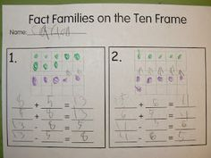 Ten Frame Fact Families