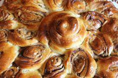 besondere Form, Zimt-Zucker-Rosenkuchen, Blumenkuchen, Hefeteig