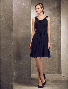 A-line Princess Cowl Straps Knee-length  Chiffon Bridesmaid ... – USD $ 119.99