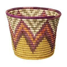 Bins don't have to be boring. Check out this #zigzig, multi-coloured,#woven #bin. For more information on #TKMaxx's Rwenzori Trading Company #charity range click the image.