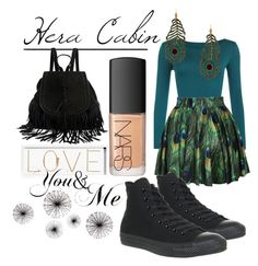 """Hera cabin outfit!!"" by infairlyland ❤ liked on Polyvore featuring WearAll, Kenneth Jay Lane, Converse, NARS Cosmetics and Oliver Gal Artist Co."