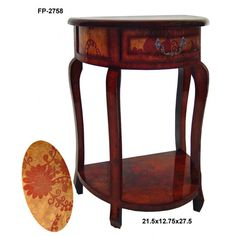 Cheungs Rattan Half Round Console Table - FP-2758