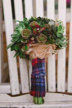 Plaid Bouquet Covering