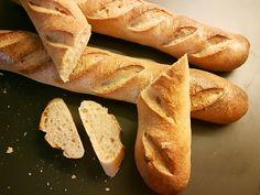 Recept z kvásku: Francúzske bagety - www. Food And Drink, Bread, Smoothie, Brot, Smoothies, Baking, Breads, Buns
