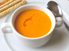 Crema suave de zanahoria con toque de naranja