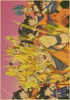 Vintage Retro Dragon Ball Posters