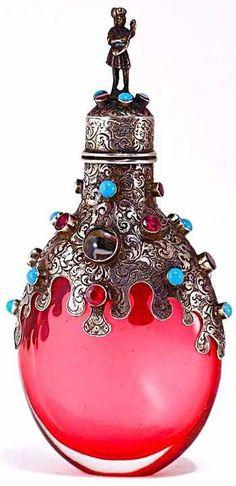 perfume bottle: