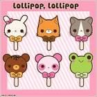 kawaii - Google Search   Character lollipops!