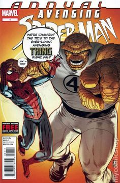 Avenging Spider-Man (2011) Annual 1 Marvel Comics Modern Age Comic book covers Super Heroes Villians