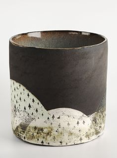 Green Hills Pot by Julia Smith